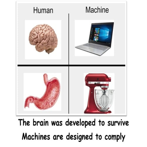 Computer is not a BRAIN